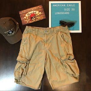 American Eagle Longboard Cargo Shorts - Sz 30